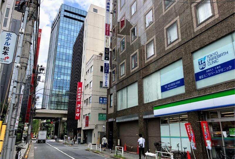 ゴリラクリニック上野のビル。